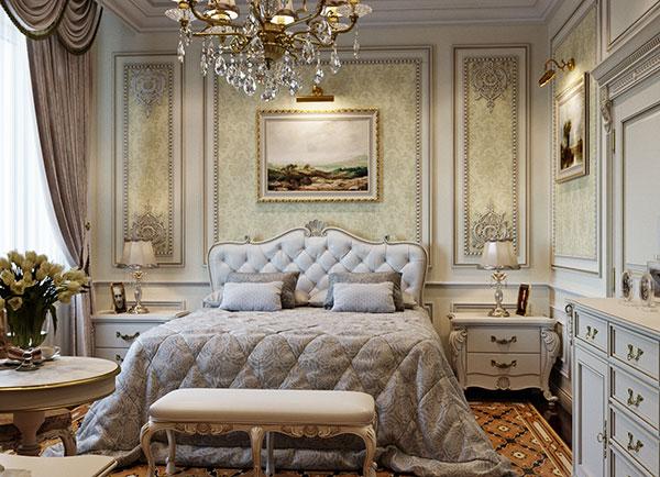Tính đối xứng và cân bằng trong phòng ngủ cổ điển