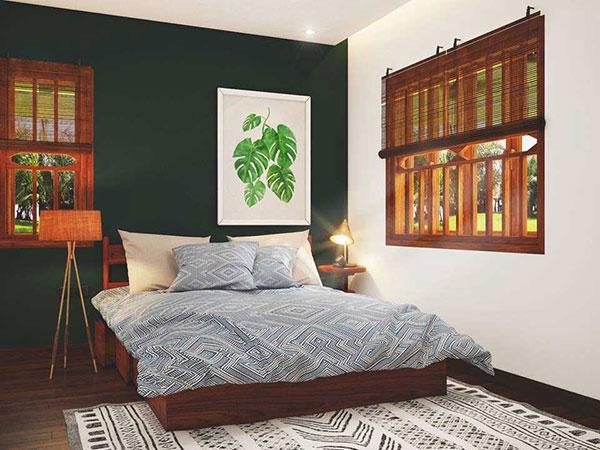 Tranh treo tường sử dụng cỏ cây mềm mại kết hợp với chất liệu gỗ tạo nên sự hài hòa