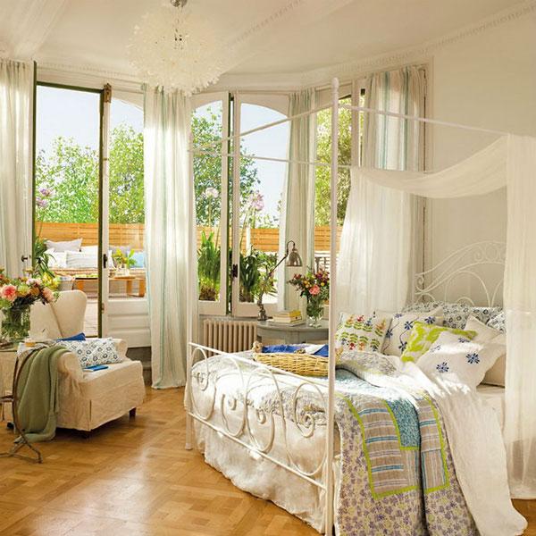 Nội thất phòng ngủ đồng quê cần phân chia bố cục hài hòa, chặt chẽ