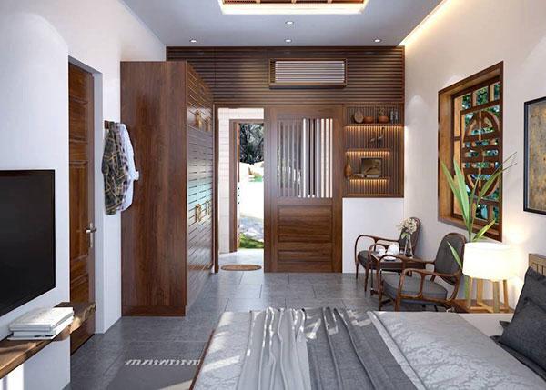 Các món đồ nội thất phòng ngủ được sử dụng chất liệu gỗ là chủ yếu