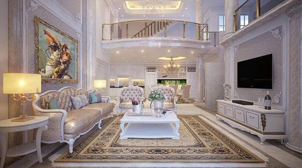 Thiết kế nội thất biệt thự theo phong cách tân cổ điển