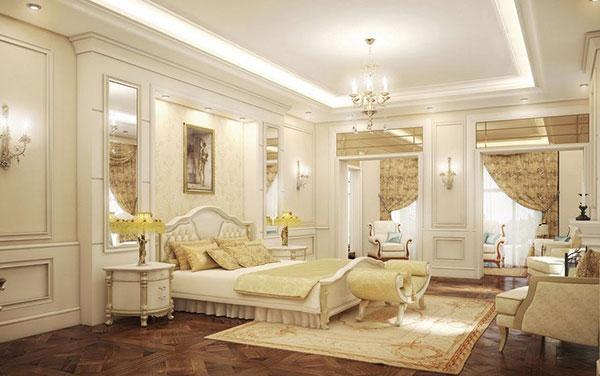 Thiết kế nội thất phòng ngủ biệt thự tân cổ điển cao cấp, sang trọng