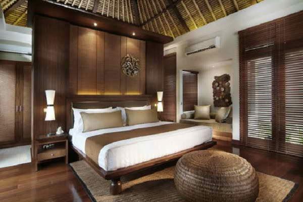 Chất liệu gỗ tự nhiên mang đến không gian nghỉ ngơi yên tĩnh, thanh tịnh