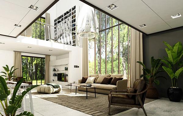 Thiết kế nội thất biệt thự cần chú ý đến phòng khách
