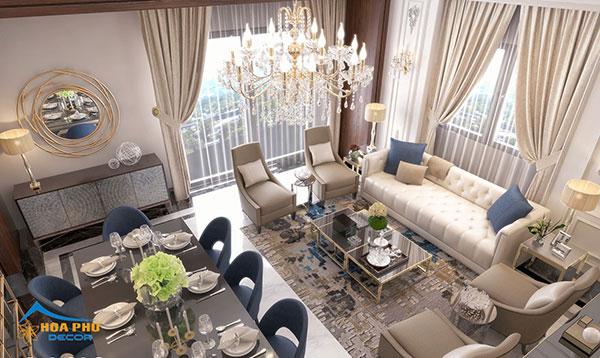 Vẻ đẹp sang trọng, tinh tế đền từng chi tiết của thiết kế nội thất chung cư tân cổ điển