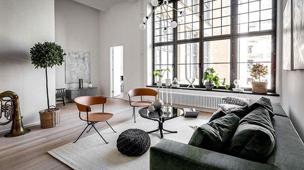 Các món đồ nội thất được sắp đặt hợp lý để có không gian sống rộng rãi, thông thoáng