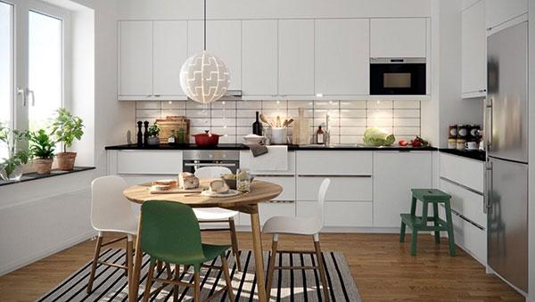 Ánh sáng nhân tạo giúp phòng bếp trở nên ấm cúng, độc đáo