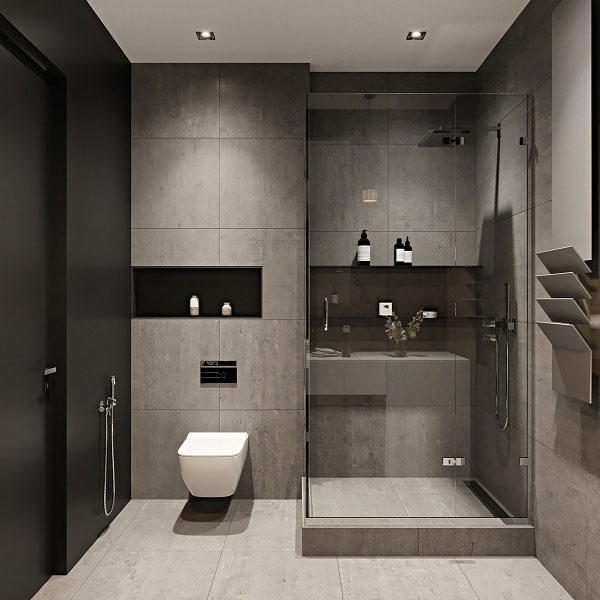 Nội thất phòng tắm phong cách Scandinavian được thể hiện mạch lạc, rõ ràng