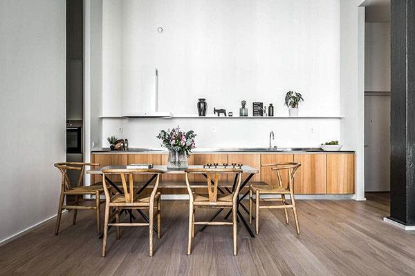 Chất liệu gỗ được sử dụng phổ biến trong phong cách Scandinavian