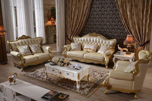 Nội thất baroque được khắc họa bằng chất liệu cao cấp, chi tiết tinh tế
