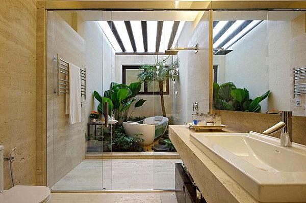Phòng tắm phong cách nhiệt đới