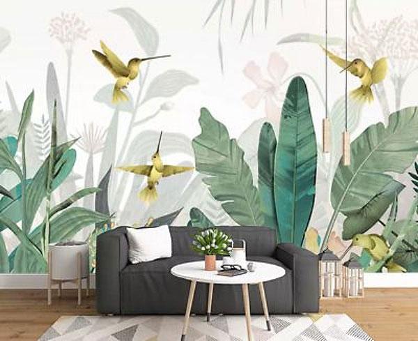 Các chi tiết dán trên tường tạo mang đến không gian sống ấn tượng