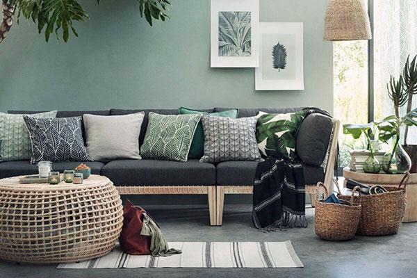 Màu sắc độc đáo pha lẫn đường nét tinh tế tạo nên nội thất tropical ấn tượng