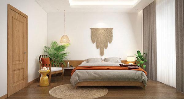 Phòng ngủ phong cách nhiệt đới tạ cảm giác nhẹ nhàng, thư thái