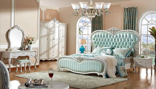 Giường ngủ tân cổ điển cần ưu tiên kích thước hợp lý với không gian nghỉ ngơi