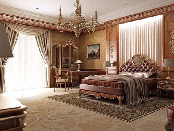 Chất liệu gỗ cao cấp được gia chủ sử dụng trong nội thất phòng ngủ
