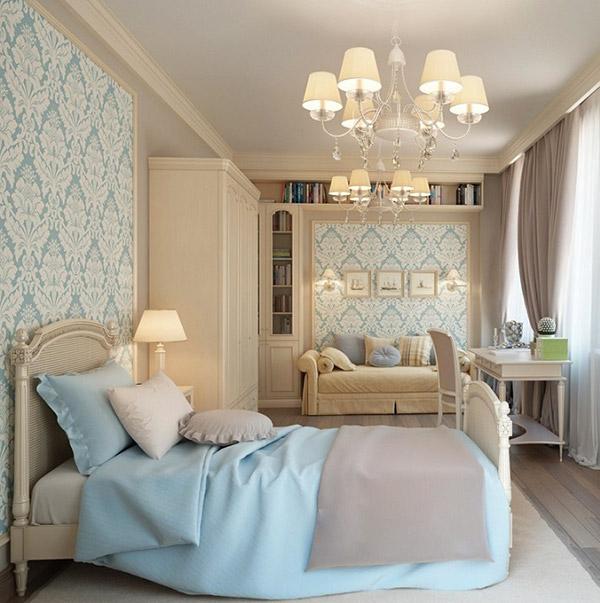 Đơn giản, nhẹ nhàng của giường ngủ tân cổ điển tạo cảm giác thoải mái, dễ chịu
