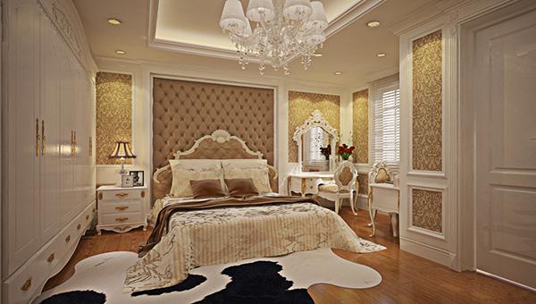 Màu vàng kết hợp pastel nhẹ nhàng giúp nội thất phòng ngủ nổi bật đến từng chi tiết