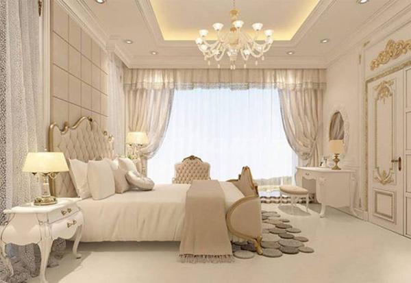 Rèm che phòng ngủ tân cổ điển đơn giản được sử dụng uyển chuyển, tinh tế