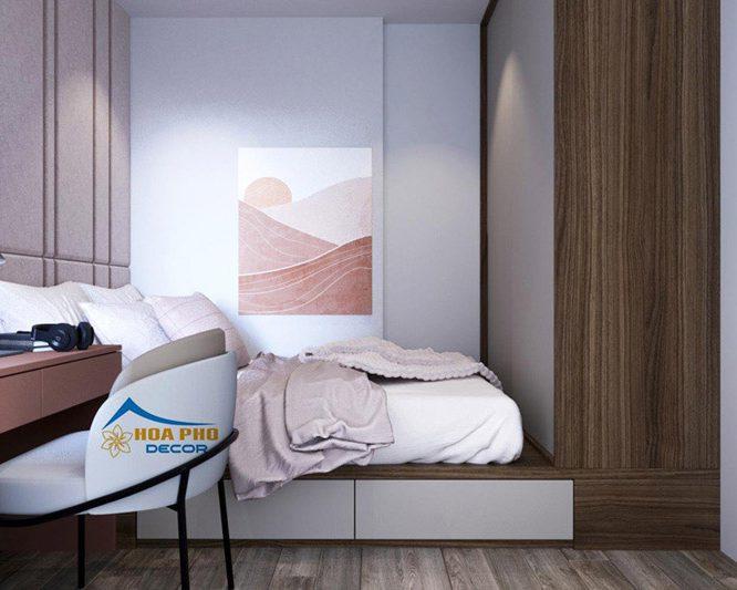 Thiết kế nội thất chung cư 60m2 2 phòng ngủ