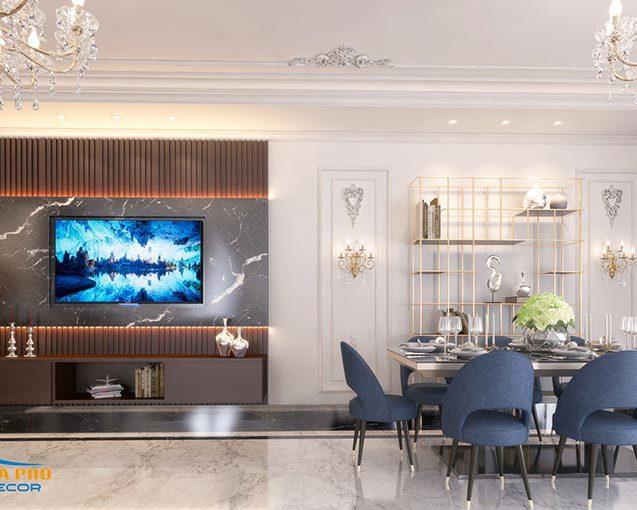 Thiết kế nội thất Penthouse phong cách tân cổ điển