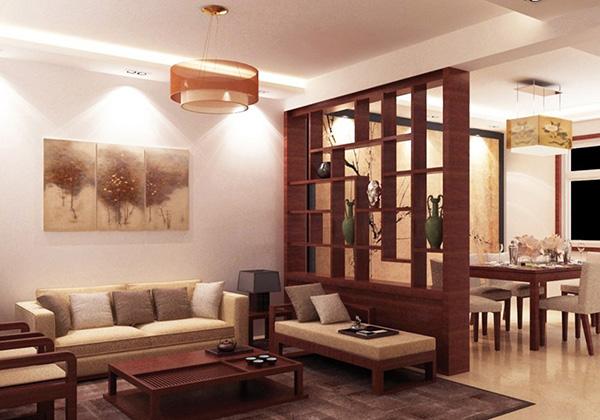 Vách ngăn gỗ đẹp, hiện đại giúp tách biệt không gian