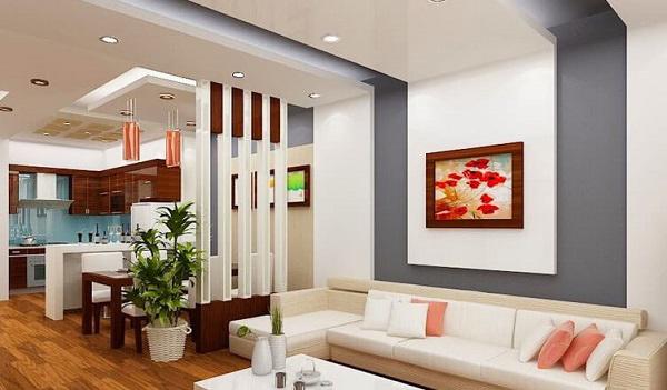 Mẫu vách ngăn phòng cần đảm bảo thẩm mỹ hài hòa cho căn nhà