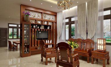 Hình ảnh vách ngăn phòng khách và bếp đẹp mê ly