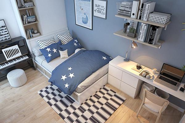 Thiết kế phòng ngủ diện tích từ 8m2 - 9m2 theo phong cách hiện đại trẻ trung ấn tượng