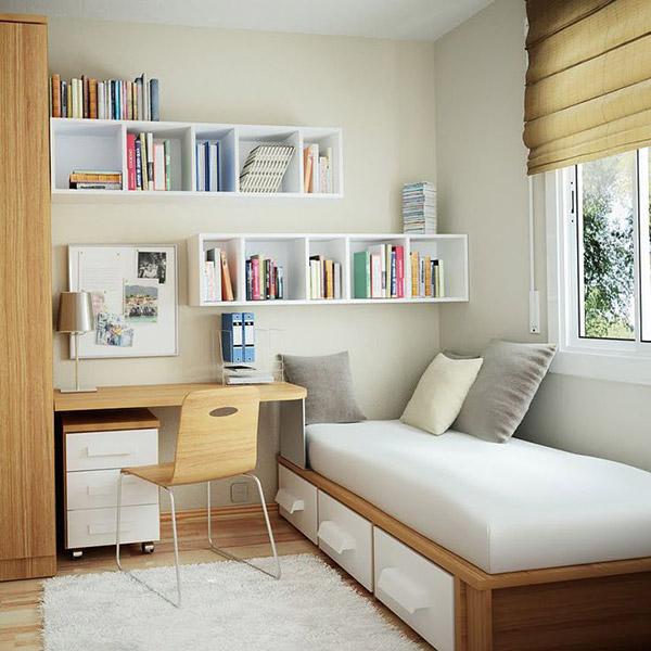 Cách bố trí phòng ngủ diện tích nhỏ từ 5m2 – 7m2 hiện đại