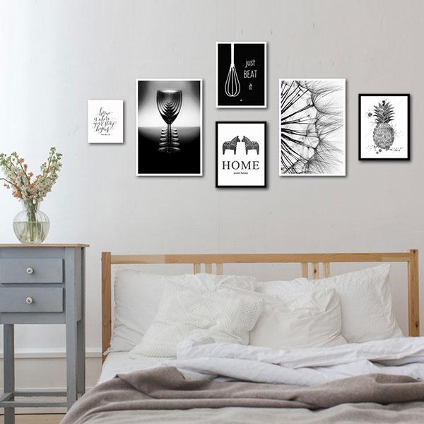 Trang trí tranh treo tường giúp nâng cao vẻ đẹp cho căn phòng