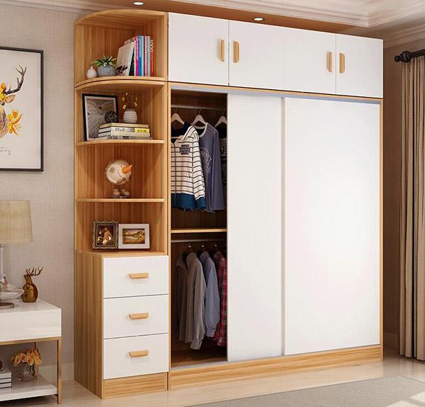 Thiết kế tủ quần áo có cánh tủ lùa giúp tối ưu diện tích