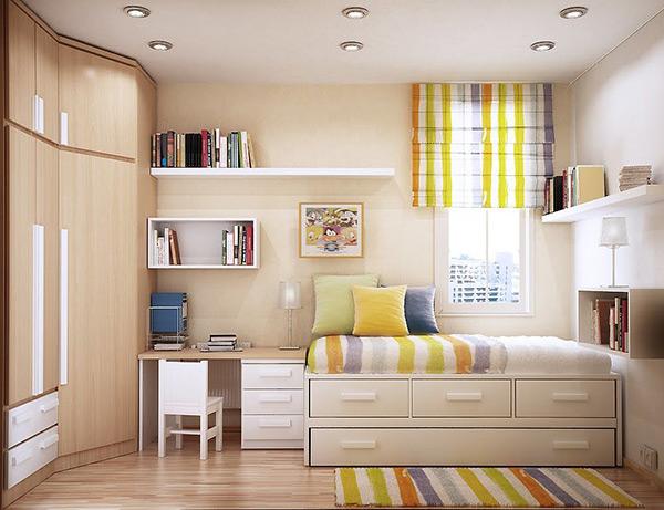 Cách bố trí phòng ngủ diện tích nhỏ đẹp