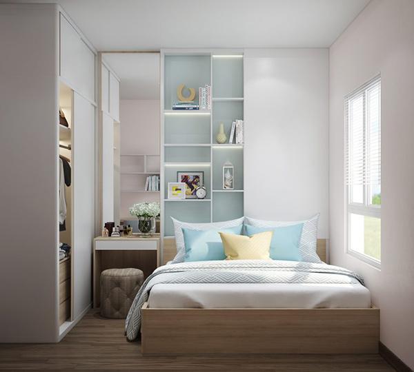Phòng ngủ nhỏ nhưng nội thất phải đáp ứng đủ nhu cầu sử dụng