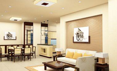 Phối màu sơn phòng khách hiện đại theo phong thủy