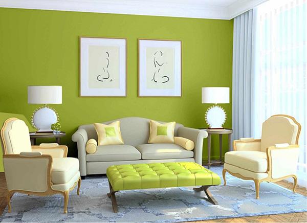 Màu xanh nõ chuối trên tường khiến mọi người ngỡ ngàng vì sự sáng tạo