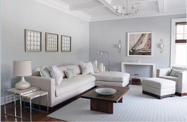 Tông xám trầm ấm giúp ăn gian diện tích sử dụng trong phòng