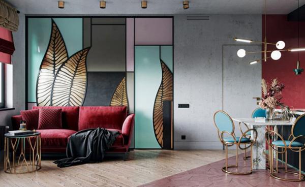 Các khối hình học lập thể Art Deco được tái hiện một cách chọn lọc