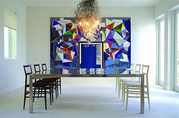 Cách chơi màu sắc trên họa tiết tranh treo tường mang đến cảm quan ấn tượng