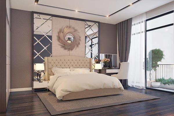 Thảm trải sàn phòng ngủ làm bằng chất liệu vải