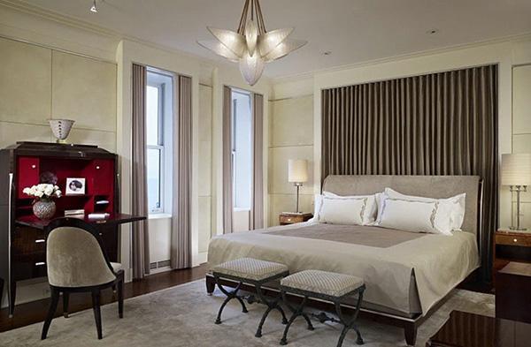 Đồ nội thất sử dụng hình khối đồ sộ, gây ấn tượng mạnh về thị giác