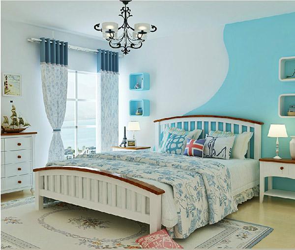 Phòng ngủ bé trai sử dụng phong cách Địa Trung Hải