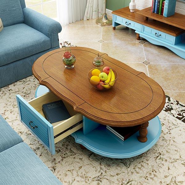 Phong cách nội thất Địa Trung Hải với thiết kế bàn trà độc đáo