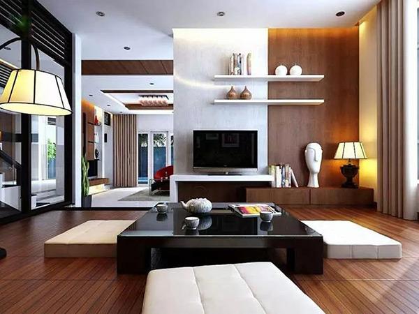Phòng khách kiểu Hàn Quốc được sắp đặt gọn gàng, ngăn nắp