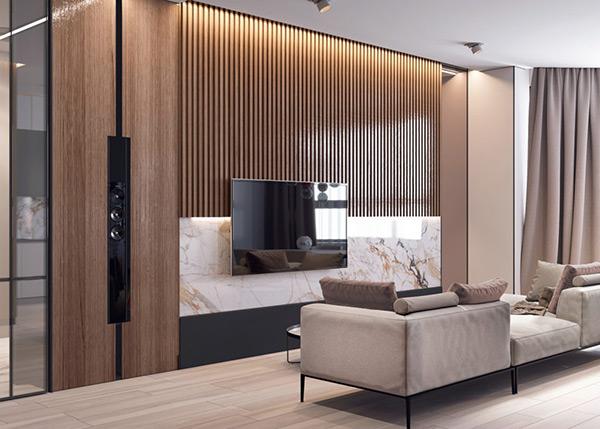 Trang trí phòng khách bằng đồ gỗ với diện tích nhỏ