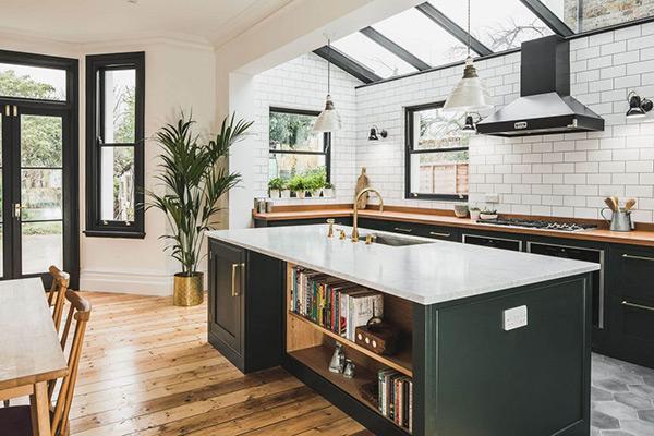 Bàn đảo bếp hiện đại mang đến nội thất phòng bếp cuốn hút