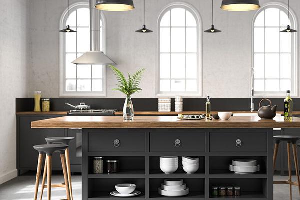 Thiết kế đảo bếp 2 tầng thuận tiện trong sinh hoạt
