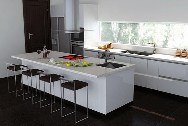 Đảo bếp phát huy tối đa công năng trong quá trình sử dụng