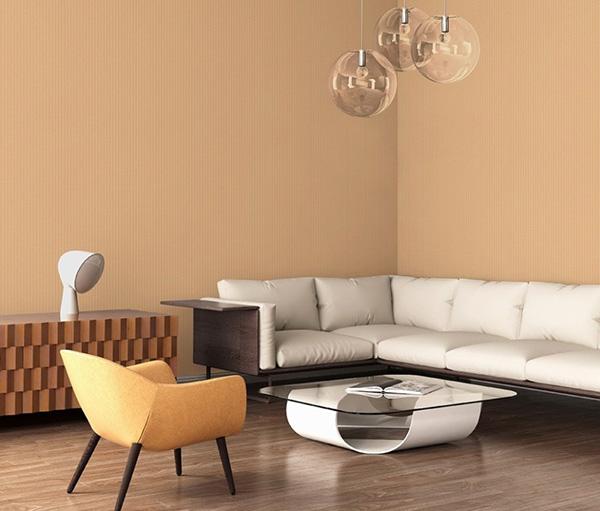 Giấy dán tường phòng khách chung cư nhỏ, nhà ống ưu tiên kiểu dáng trơn