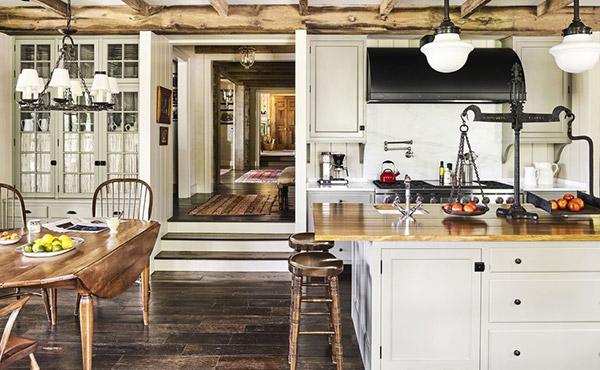 Nội thất phòng bếp được tái hiện một cách sinh động, hiệu quả